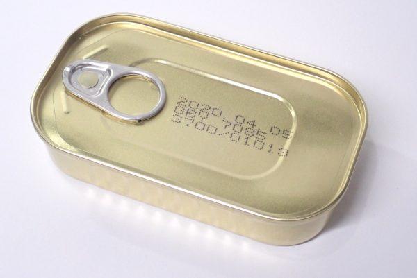 百均浪漫◆シーウィングス 缶DELI あさりアヒージョ。缶詳細写真。