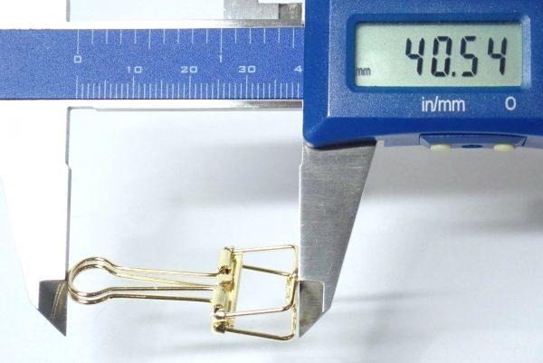 百均浪漫◆ダイソー リーンクリップ Sサイズ(6個入)。サイズ測定。