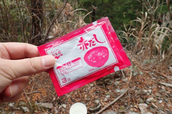 百均浪漫◆永谷園 赤だし パウダータイプ。冬のハイキングでの休憩。
