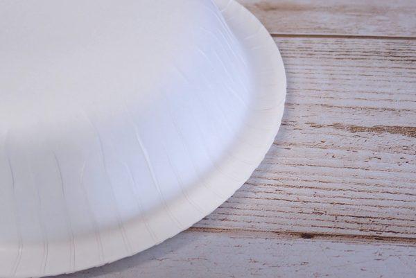 百均浪漫◆サンナップ ストロングナチュラルボウル 650ml(18cm) 4枚入。製品詳細写真。縁の処理。