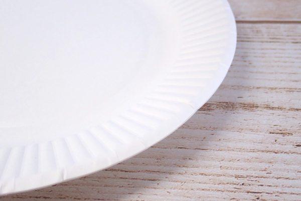 百均浪漫◆ワッツ・ペーパープレート 18cm 27枚入。製品詳細写真。