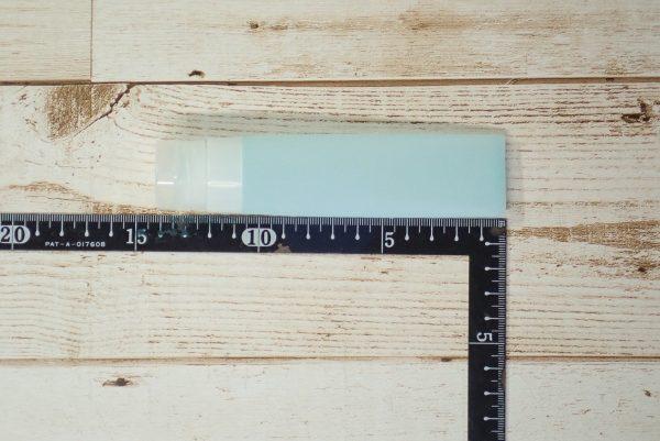 百均浪漫◆シリコンチューブ 50ml。サイズは約14cm。