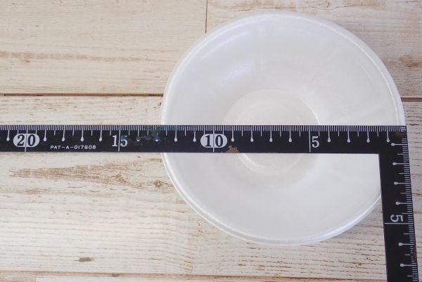 百均浪漫◆耐熱・保温性良好どんぶり小。サイズ測定。