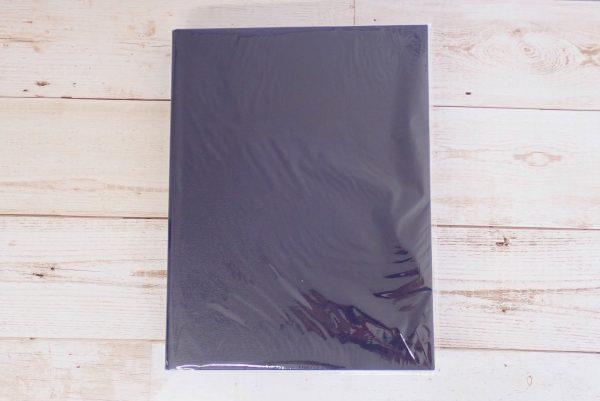 百均浪漫◆セリア A4 2リングファイル レザースタイル。パッケージ表側写真。