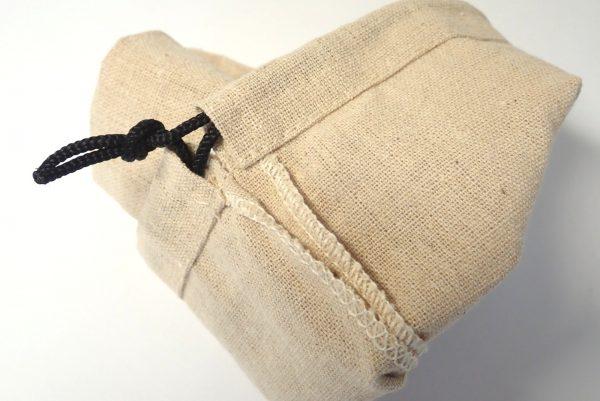 百均浪漫◆麻布風キンチャク。縫製良好。