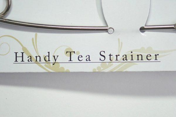 百均浪漫◆ハンディ ティーストレーナー。パッケージ表側詳細写真。