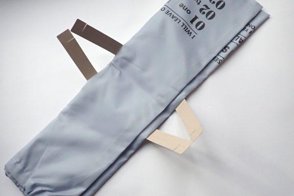 百均浪漫◆約55x45cm SJキンチャクLL。商品タグはテープやホッチキス無し。