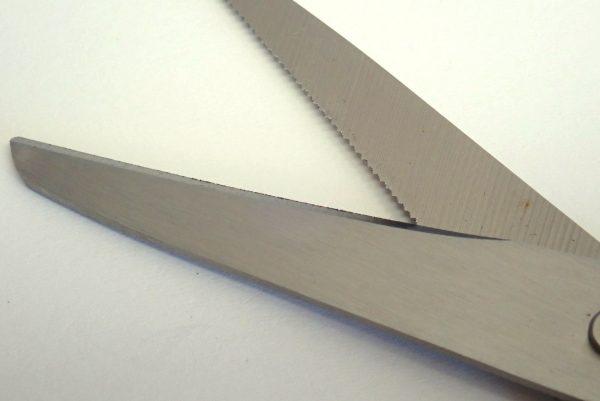 百均浪漫◆ダイソー 軽い力で固いものも切れるハサミ。ハサミ本体詳細写真。