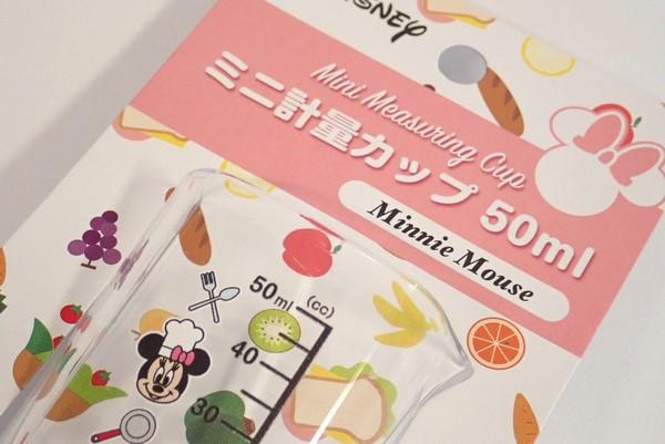 ディズニーのミニーがミニ計量カップに!しかも日本製。50mlって案外アウトドアで使い易い。 @100均 セリア