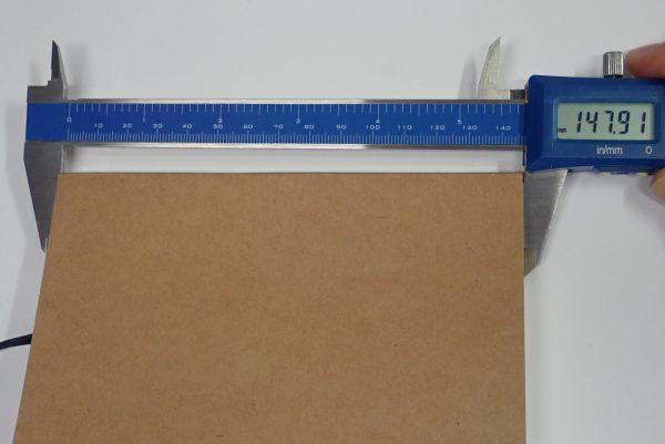百均浪漫◆セリア BLANK NOTE クラフト A6 120枚 しおりひも付。サイズ測定。