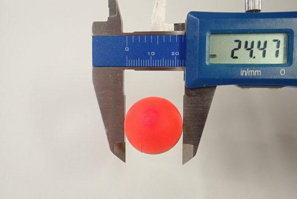 百均浪漫◆ダイソー 釣 蛍光浮き8号4個入。蛍光浮き寸法測定。