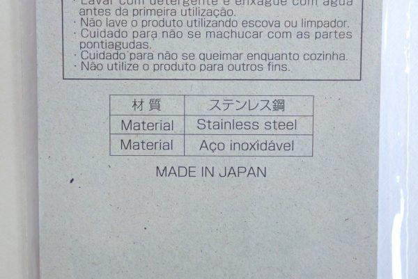 百均浪漫◆ステンレス魚串290mm3本組。パッケージ裏側詳細写真。