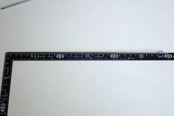 百均浪漫◆ステンレス魚串290mm3本組。寸法チェック。