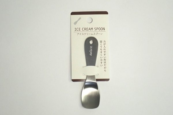 百均浪漫◆日本製!アイスクリームスプーン。パッケージ表側詳細写真。