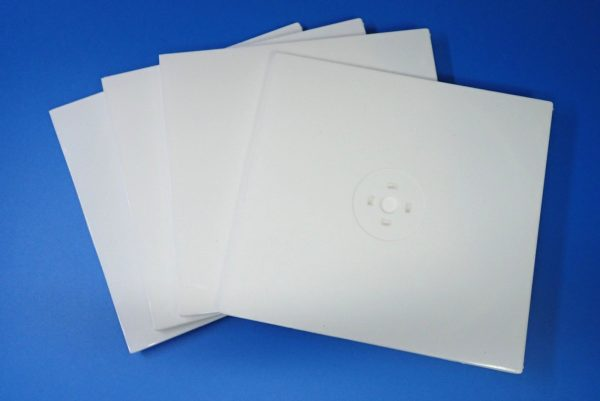 百均浪漫◆CD&DVDソフトケース スリムタイプ 2枚収納。4個入り。