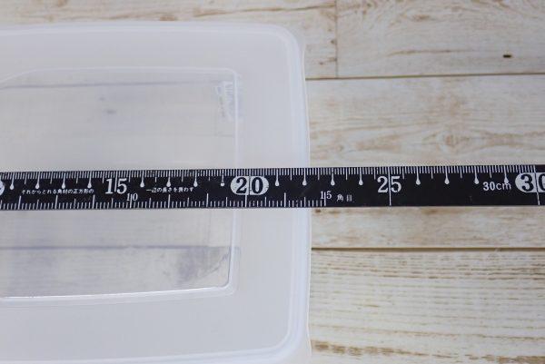 百均浪漫◆日本製 ライスストッカー 2kg用。寸法測定。
