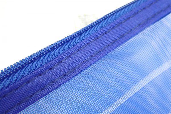 百均浪漫◆16x13cmのメッシュポーチ。縫製チェック。