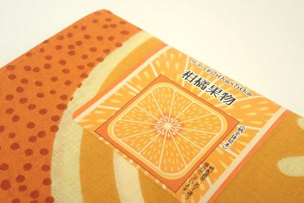 百均浪漫◆フジサキ てぬぐい風バンダナ 柑橘果物。
