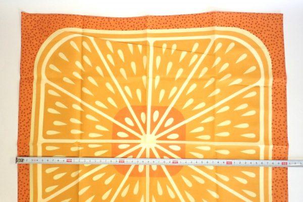 百均浪漫◆フジサキ てぬぐい風バンダナ 柑橘果物。サイズ測定。