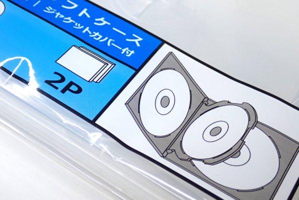 百均浪漫◆CD&DVDソフトケース 4枚収納。