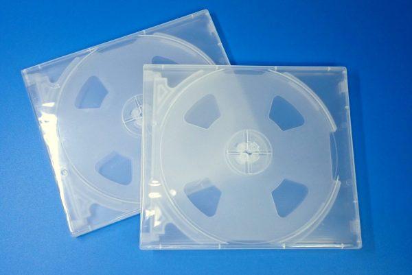 百均浪漫◆CD&DVDソフトケース 4枚収納。ケース詳細写真。