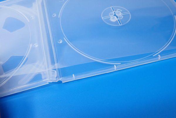 百均浪漫◆CD&DVDソフトケース 4枚収納。ケース詳細写真。ジャケット付。