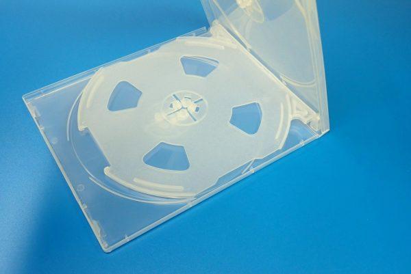 百均浪漫◆CD&DVDソフトケース 4枚収納。ケース詳細写真。中央収納ユニット。
