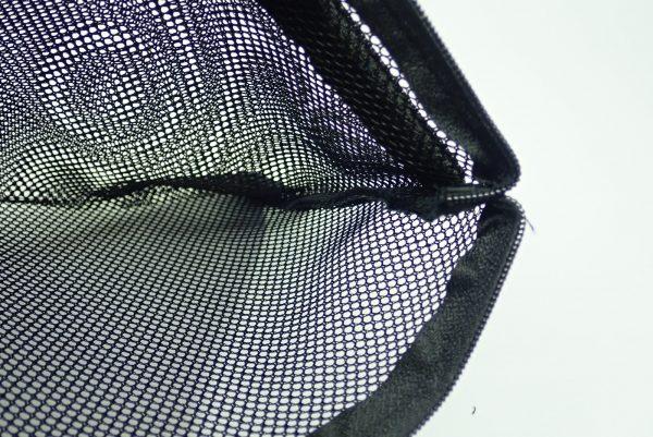 百均浪漫◆スルガ メッシュケース W24.5xH16cm。縫製チェック。