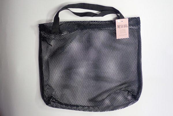 百均浪漫◆21cm角バケツにちょうどいいメッシュバッグ。パッケージ表側詳細写真。