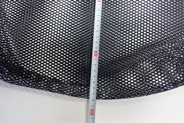 百均浪漫◆21cm角バケツにちょうどいいメッシュバッグ。サイズ測定。