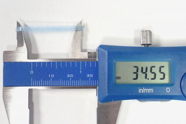 百均浪漫◆ちょっと派手めな絡まないヘアゴム。折径測定。