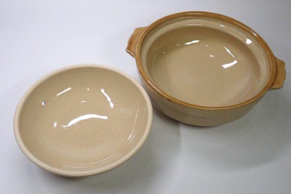 百均浪漫◆一人用土鍋、108円!土鍋チェック。蓋を開けてみたよ。