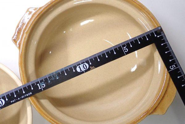 百均浪漫◆一人用土鍋、108円!サイズ測定。