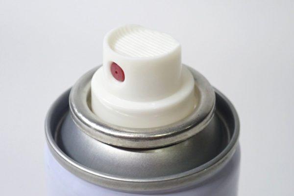 百均浪漫◆携帯にも便利な防水スプレー70ml。ノズルヘッド。