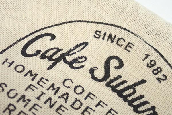 麻袋っぽい雰囲気のコットン巾着袋 約16 x 19cm (マチ6cm) @100均 レモン