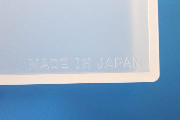 百均浪漫◆和泉化成 日本製 名刺対応サイズ カードケース。本体詳細写真。MADE IN JAPAN。