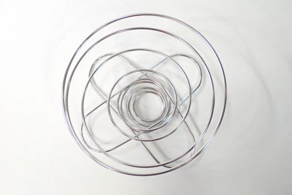 百均浪漫◆山コーヒーにも最適、折りたたみ式コーヒードリッパー。本体寸法確認。