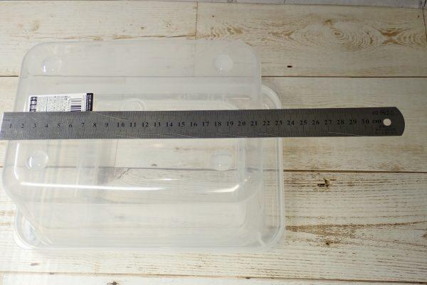 底面サイズ測定。