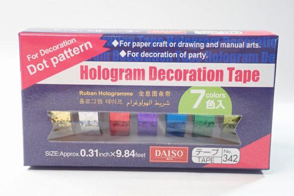 百均浪漫◆ホログラムテープ7色。パッケージ正面詳細写真。