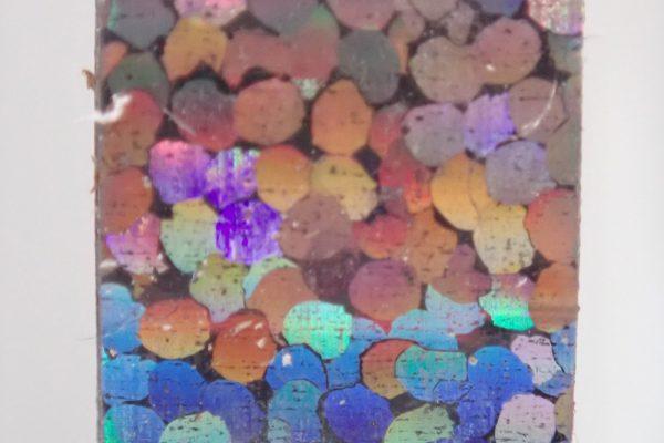 百均浪漫◆ホログラムテープ7色。ホログラムテープ各色拡大写真(銀)。
