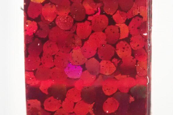 百均浪漫◆ホログラムテープ7色。ホログラムテープ各色拡大写真(赤)。