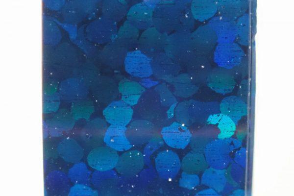 百均浪漫◆ホログラムテープ7色。ホログラムテープ各色拡大写真(青)。