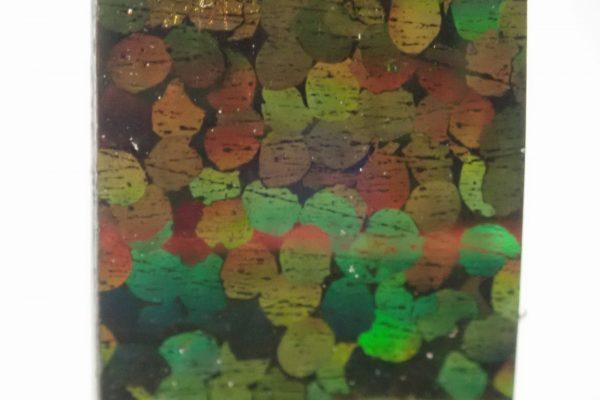 百均浪漫◆ホログラムテープ7色。ホログラムテープ各色拡大写真(黄緑)。