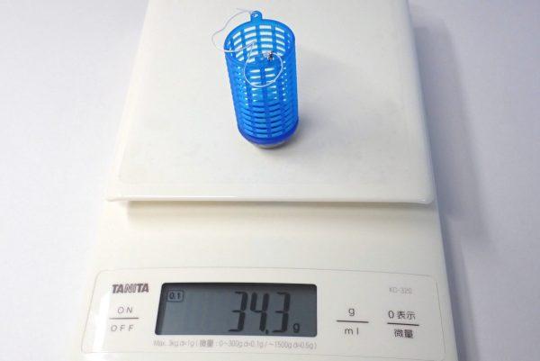 百均浪漫◆釣・サビキカゴ10号2個入。重さ測定。