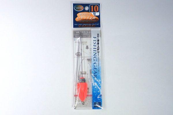 百均浪漫◆釣・ロケット天秤10号。パッケージ表側詳細写真。