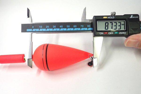 百均浪漫◆ダイソー サビキ浮き 10号。サイズ測定。