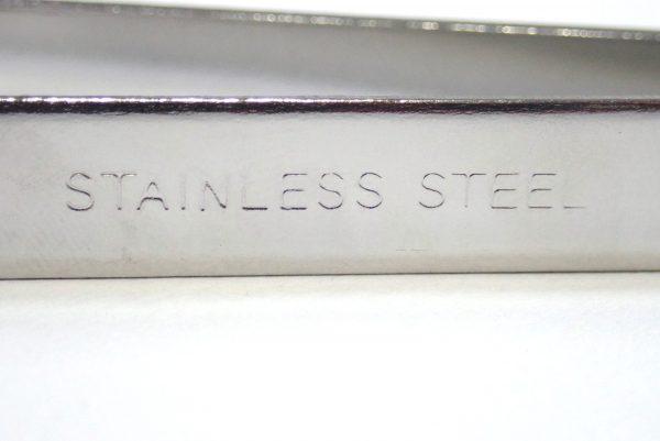 百均浪漫◆ステンレス骨抜き。本体詳細写真。STAINLESS STEELの刻印。
