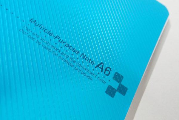 百均浪漫◆表/背表紙も樹脂、ミシン目入りA6リングノート。