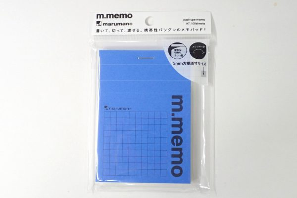 百均浪漫◆マルマン m.memo ロディアみたい。パッケージ表側詳細写真。
