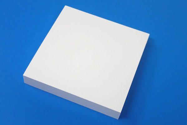 百均浪漫◆白い付箋紙75x75 120枚。パッケージから出しみたよ。